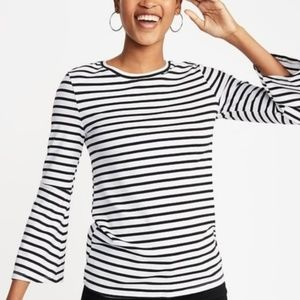 Old Navy | Cotton/Modal Striped Bell Sleeve Tee